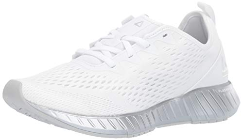 Reebok Women's FLASHFILM, White/Chrome/Silver, 5 M US