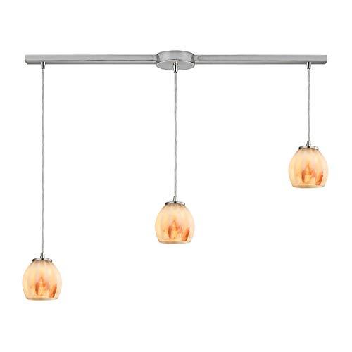 Elk Lighting 10421/3L-TS Pendant Light, Satin Nickel