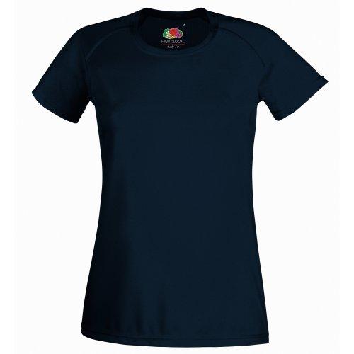 Fruit Of The Loom SS075M, Camiseta Para Mujer Azul celeste