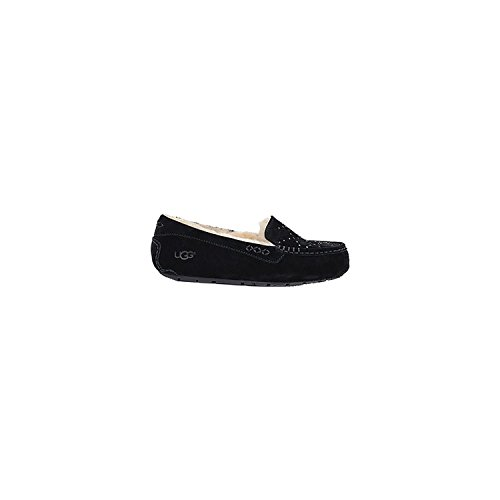 UGG Women's Ansley Crystal Diamond Holiday Gift Box Black Loafer by UGG
