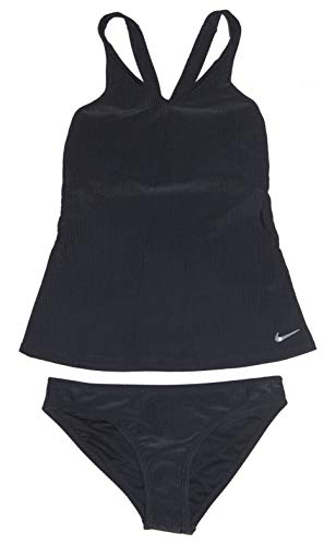 - Nike Women's Tankini Athletic 2-Piece Swimsuit (X-Small, Black/Black)