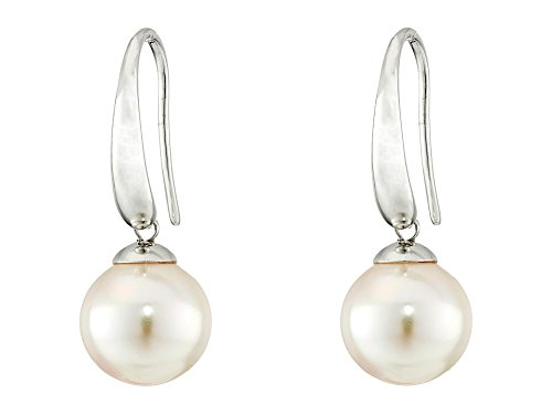 Majorica Women's French Wire Round Pearl Drop Earrings Silver/White One Size