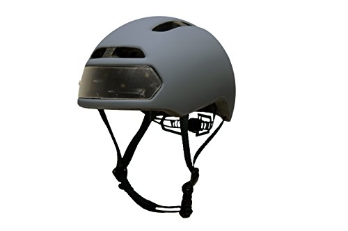 Torch-Apparel-T2-Bike-Helmet-with-Front-and-Rear-LED-Lights-Slate-Grey