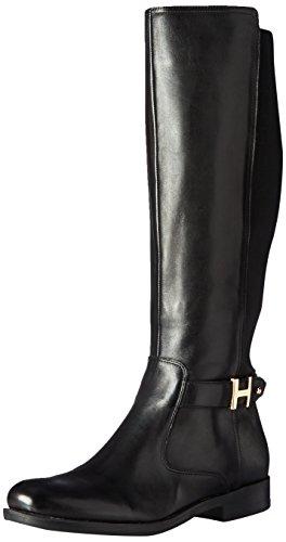 Tommy Hilfiger Women's Suprem Riding Boot, Black, 8.5 M (Woman Boots Tommy Hilfiger)