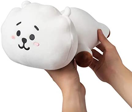 066fd53306563 LINE FRIENDS BT21 Official Merchandise RJ Mini Cushion Stuffed Pillow, White