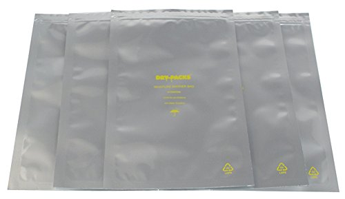Dry-Packs 6 by 10-Inch Mylar Moisture Barrier Zipper Seal Recloseable Bag, Pack of 10