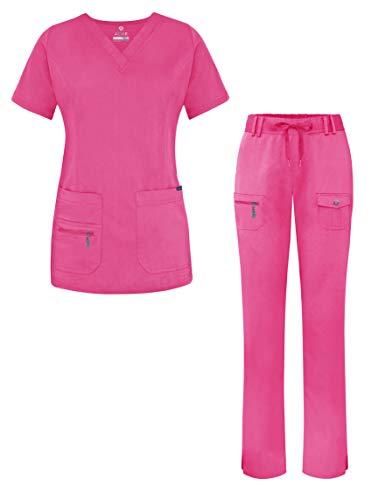 Adar Pro Breakthrough Plus Scrub Set for Women - Enhanced V-Neck Top & Multi Pocket Pants