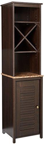 Sauder Linen Tower Bath Cabinet, Cinnamon Cherry Finish