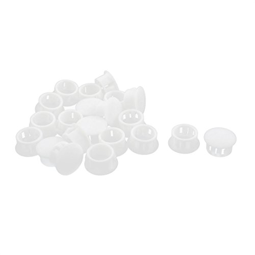 uxcell 20Pcs SKT-16 Insulated White Plastic Snap in Mounting Locking Hole Harness Fastener Cover 16mm Dia