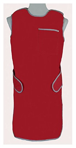 USA X-RAY Zeus Lightweight Lead X-Ray Apron in Diamond Navy with Black Binding, size F (male large) (Thyroid Apron Lead)