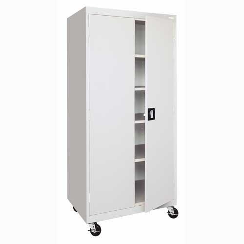 (Sandusky Lee TA4R362472-05 Transport Series Mobile Storage Cabinet, Dove Gray)
