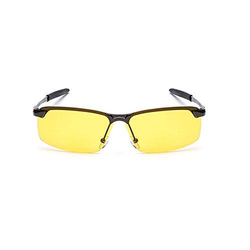 Gun de Frog Reflectantes Gray Color Mujer Hombre Box clásicas Sunglasses de Vision Mirror Night Sol Retro Gafas de Gun Gafas Black Gafas Sol Box y qnwvwT6f