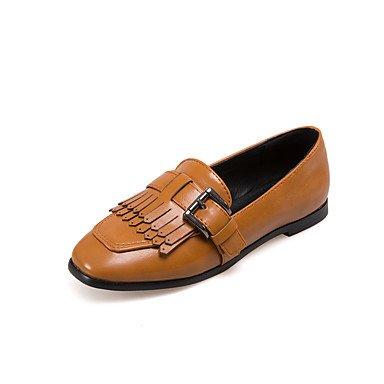 Cómodo y elegante soporte de zapatos de las mujeres pisos primavera verano otoño invierno Gladiator bailarina luz al aire libre vestido Casual de piel sintética suela plana heelbuckle Split Joint negro