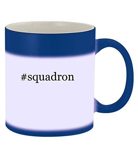 #squadron - 11oz Hashtag Magic Color Changing Mug, Blue