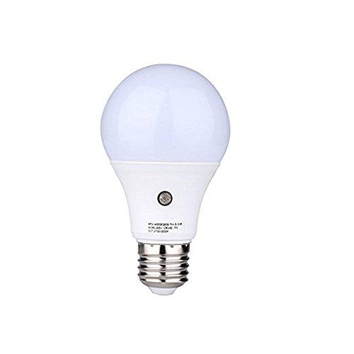 Jian Ya Na 7W LED Sensor Light Bulbs,E27 Dust-to-Dawn Auto Sensor Light Bulbs, 630Lumens 3000K Warm White