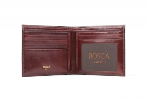 Bosca Mens Bi Fold Executive I.D. Wallet Old Leather (Dark Brown) (Bi Bosca Fold Wallet)