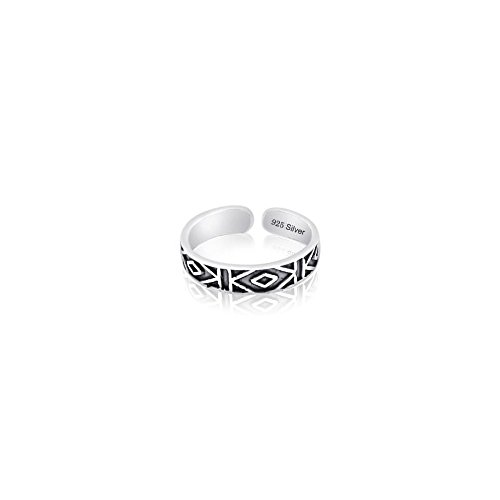 - FANTOM JEWELRY Sterling Silver 925 Antique Design Toe Ring. Nickel Free Adjustable Fit Solid Band One Size Fits All. Polished