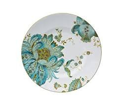 "222 Fifth Replacement 8.5 "" Salad Plate ELIZA TEAL"