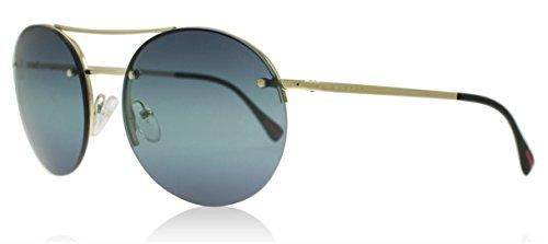 Prada Sport PS54RS ZVN5T2 Pale Gold Round Sunglasses