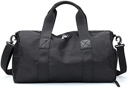 ポータブル近距離旅行服収納袋大容量のトレーニングゴルフバックパックドライとウェットの分離デザインブラック、ピンク HMMSP (Color : Black, Size : Small)