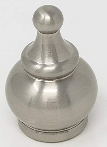 Urbanest Crown Lamp Finial, Brushed Nickel, 2-inch - Nickel Finial