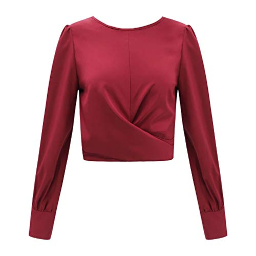 Jutoo Blouse T Backless Long 2019 Casual Shirt Rojo Sleeve Womens Tops Bow 44xrw
