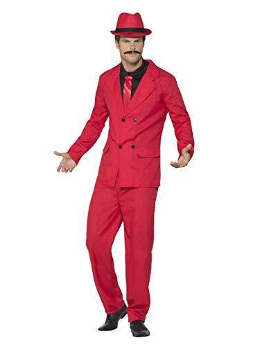 Smiffy's Men's Zoot Suit, Red, -