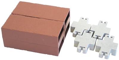 Let's Edge It! Decorative Plastic Brick Edging, Terra Cotta, 4-Pack - Argee RG874