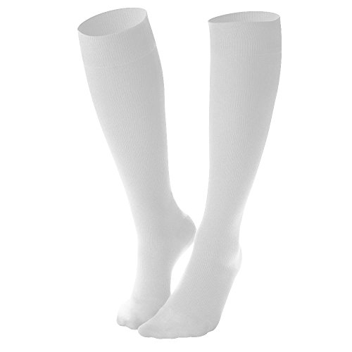 Comfort Trousers (Dr. Comfort Women's Micro Nylon Graduated Compression Knee-High Sock, 10-15 mmHg, White, Medium)