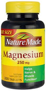 Nature Made Magnesium 250mg, 200 Tablets (Pack of 3)