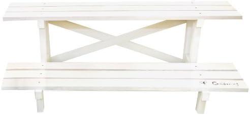 ガーデンフラワースタンド 2段860 W86cm × D34cm × H30cm ホワイト