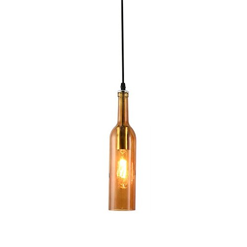 Bottles Ceiling Hanging Lights Pendant Light Dining Room Lighting Counters Pendulum Lamps Colorful Wine Bar Coffe Loft Creative Hanging Ceiling Light (Color : E)