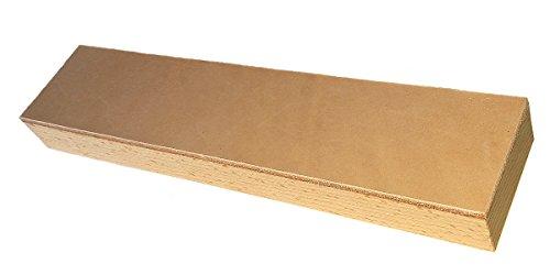 Streichriemen auf Holz » PODURO MASTER « Abziehleder auf Hartholz im Baumwollbeutel