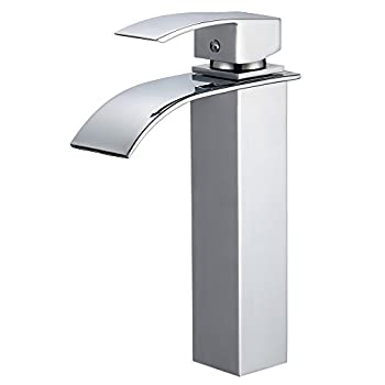 Piatti Contemporary Bathroom Sink Faucet in Polished Chrome for Single-Hole Setups (Tall-Neck)