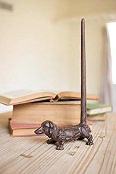 - Cast Iron Dachshund Paper Towel Holder-rustic, 6.25 X 12 in