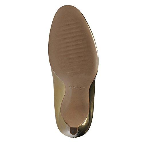 Oro donna Scarpe Shoes tacco Evita col oro TXORq