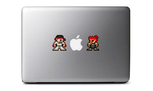 8-Bit Ryu Vs. Akuma Decals from Street Fighter for MacBook, iPad Mini, iPhone 5S, Samsung Galaxy S3 S4, Nexus, HTC One, Nokia Lumia, Blackberry