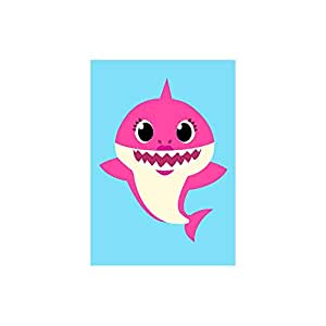 Poster Baby Shark - Mamãe Mommy 30x43-1 Unidade