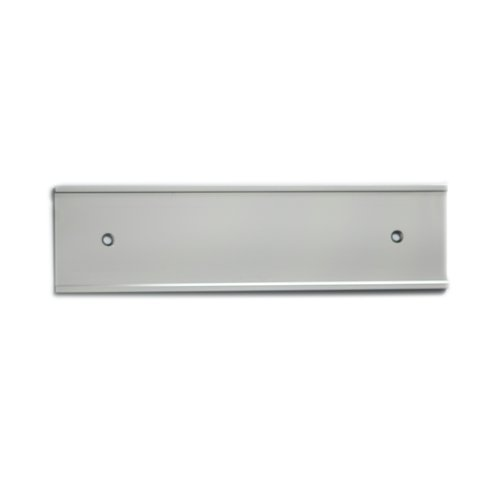 (Nameplate Holder - Wall or Door - Silver 8 x 2 (10))