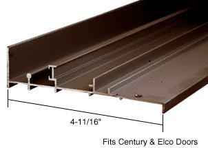 CRL Bronze OEM Replacement Patio Door Threshold for Century & Elco Doors; 4-11/16'' Wide x 8 ft Long by C.R. Laurence