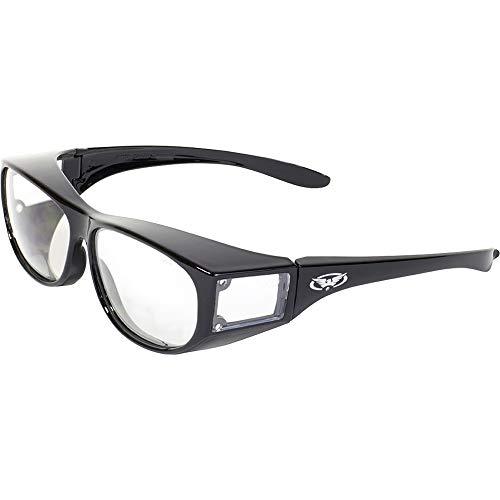 Global Vision Safety Fit Over Glasses (Black Frame/Clear Lens)