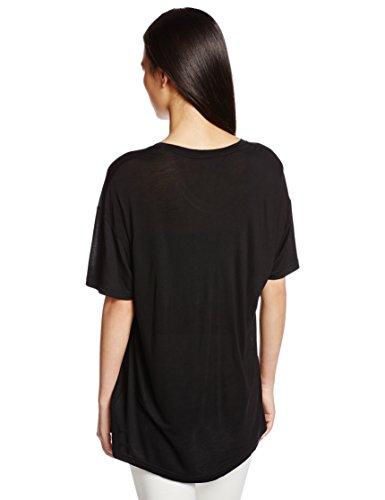 ブラックレディースTシャツT-RACHEL-U-AT-SHIRT00SRTR0NALZ900S