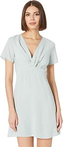American Rose Women's Celine Short Sleeve Twist-Front Dress Mint Small