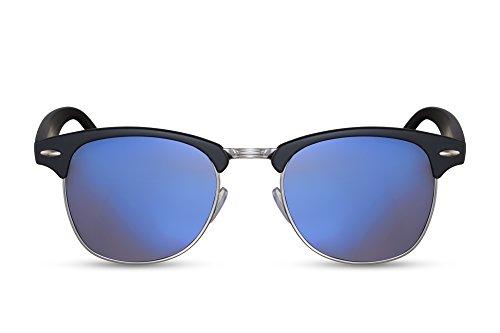 Cheapass Mujer Espejados Clubmaster de Gafas 008 Variación Retro Ca Sol Hombre Negro rxqRrZpwaY