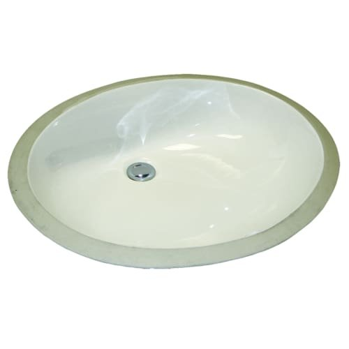 Mirabelle MIRU1915WH 21-1/4'' Porcelain Undermount Bathroom Sink with Overflow