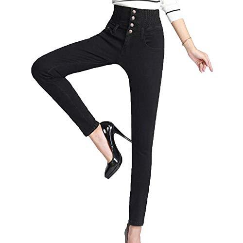 Neri Alta Black Moda Aderenti Alla Da Pantaloni A Jeans Donna Curvy Blu Vita Sexy zqpOxwCg