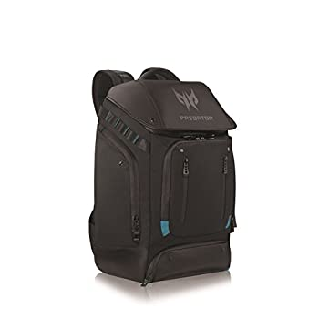 Image of Acer Predator Utility Gaming Backpack, Water Resistant and Tear Proof Travel Backpack Fits and Protects Up to 17.3' Predator Gaming Laptop, Black with Teal Accents Backpacks