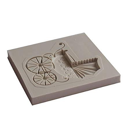 Silicone Carrinho de Bebê molde fondant ferramentas de decoração do bolo de chocolate do molde molde