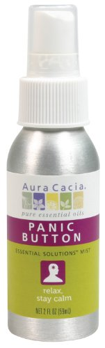 Aura Cacia Essential Solutions Mist, Panic Button, 2 Fluid Ounce (Aura Cacia Mist)