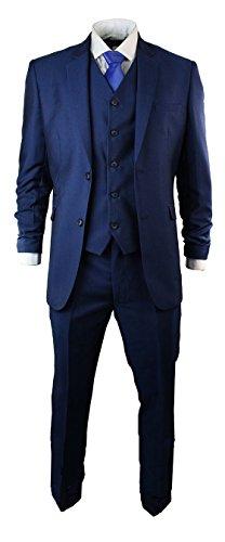 Mens Tonic Royal Blue 3 Piece Suit Short Regular Long Formal Wedding Prom - Tonic Online